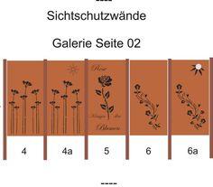 Design Sichtschutzwand SW001 Gartenzaun