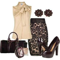 Business attire... love that skirt!! #workattire #personalbrand www.cynthiawhiteandassociates.com