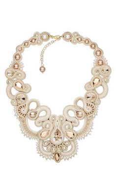 Bib-Style Necklace with SWAROVSKI ELEMENTS and Soutache Cord ADAGIO NECKLACE Eliana Maniero Jewels 2013