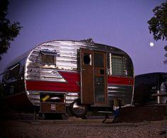 VINTAGE 1956 Sportsman King RARE travel trailer, canned ham restored! in RVs & Campers | eBay Motors