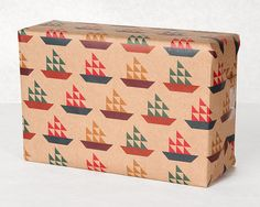 !!!!!!!    Sail Boat Pattern Wrapping Paper / 12 Sheets by NormansPrintery, $12.00