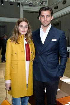 Olivia Palermo and Johannes Huebl  - Chloe Fall 2015 Front Row - March 8, 2015 #PFW