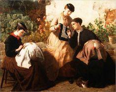 FrederickRichardPickergill_A-Honiton-Lace-Manufactory,-c.1869-large