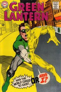 Green Lantern #63 (1960 series) - cover by Neal Adams