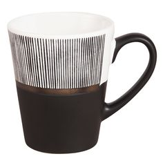 Striped Black and White Stoneware Cup on Maisons du Monde. Take your pick from our furniture and accessories and be inspired!