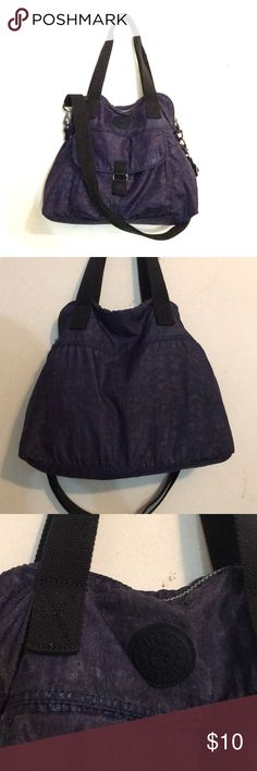 Kipling Medium Bag Notable wear on this shimmering dream of a bag. Has some pen stains on the inside and some notable wear on the outside and straps. Has a crossbody strap that can be detached.. Kipling Bags Shoulder Bags