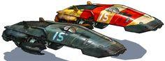 concept ships: Homeworld 2 concept spaceship art