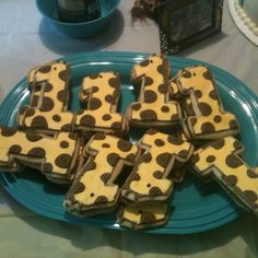 1st birthday giraffe theme cookies. My sis made them for my son's party. They were the inspiration for everything.