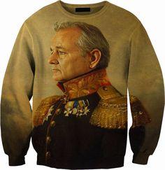 General Bill Murray Sweater Crewneck Sweatshirt by YeahWhateverz, $59.87