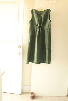 WOMENS LINEN DRESS / maxi dress / linen clothing / by PAMELATANG