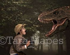 Big Dinosaur Scare in Woods - Funny Dinosaur T-Rex Screaming in Forest Digital Background Backdrop Photoshop Overlays, How To Use Photoshop, Magazine Submissions, Dinosaur Funny, Digital Backgrounds, Digital Backdrops, One Image, The Shining, Professional Photography