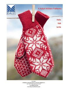 Ravelry: Mittens pattern by Dale of Norway / Dale Design Knitted Mittens Pattern, Knit Mittens, Knitted Gloves, Knitting Socks, Knitting Patterns, Knit Socks, Crochet Art, Vintage Knitting, Hand Warmers