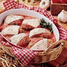 Cubed Steak Parmigiana. I like to make a little extra sauce and serve over spaghetti noodles