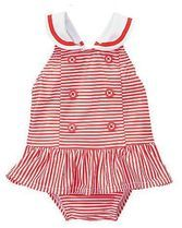 Gymboree Gazebo Party Red Striped One-Piece Sailor Swimsuit Baby Girl Month Girls Summer Outfits, Kids Outfits, Toddler Girl Romper, Baby Girl Swimsuit, Nautical Dress, 1 Piece Swimsuit, Striped One Piece, Girls Rompers, Baby Rompers