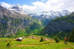 a couple train rides, a bus ride, a cable car and here you are...gimmelwald. quite possibly the most perfect place.