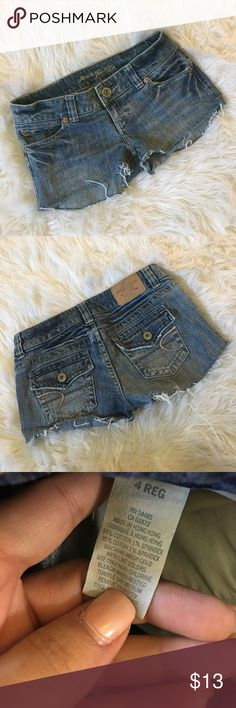 American eagle cut off shorts Size 4. Used to be long pants. Bundle and save American Eagle Outfitters Shorts Jean Shorts