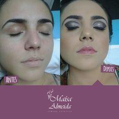 Incrível como a maquiagem realça os contornos e detalhes de um rosto! Ainda mais em belas clientes e com nosso time de profissionais ;) #Maquiagem #MakeUp #MaisaAlmeida #AntesDepois