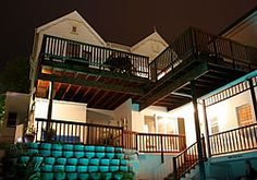 Back of house night time Knysna, Night Time, Stairs, Exterior, Mansions, House, Home Decor, Stairways, Mansion Houses