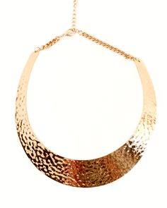 Hammered gold necklace. #anarchystreet
