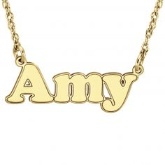 High Polished Name Necklace - $120.00