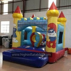 Inflatable the smurfs castle