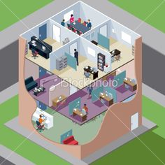 isometric office - Google Search