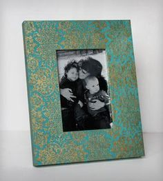 Blue & Gold Far East Decorative Picture Frame