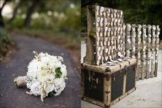 escort card wall made from pallets, rustic wedding