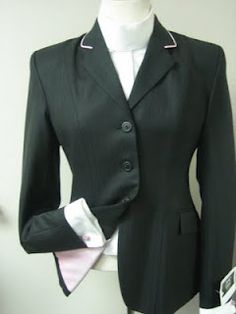 Marigold - Black Coat with pink piping