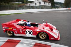 Ferrari 712 Can-Am car, formerly driven by Mario Andretti. It wasn't fast enough to threaten Team McLaren.