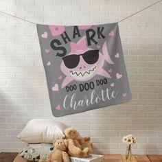 Shop Baby Shark Doo Doo Doo Personalized Baby Blanket created by MagicOwlStudio.