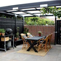 Her kan du se min terrasse/gårdhaves forvandling Outdoor Pergola, Pergola Kits, Outdoor Rooms, Outdoor Gardens, Outdoor Living, Outdoor Furniture Sets, Outdoor Decor, Patio Design, Garden Design