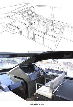 From sketch to production - D43 cockpit - De Antonio Yachts #Yacht #Yachtdesign
