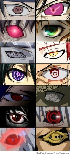 How many anime eyes can you name? I see; 1 Naruto, 2 Code Geass, 3-4 so…