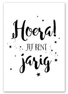 Zwart/wit kaart in formaat Bujo, Handlettering For Beginners, Happy Birthday Tag, Calligraphy Cards, Diy Accessoires, Happy B Day, Brush Lettering, Quote Posters, Quotes To Live By
