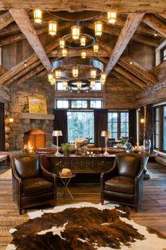Perfect western style sitting room #westernlighting   #westernfurniture #rusticfurniture http://www.santaferanch.com/