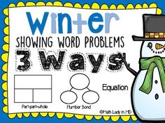 1st Grade Winter Word Problems - Show It 3 Ways by Math Lady in MD | Teachers Pay Teachers