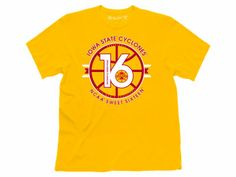 Browse the Official Store of the Iowa State Cyclones for the very best Iowa State Cyclones apparel and gear to back your team. We have all the Iowa State University hats, jerseys, t-shirts and more in our ISU Shop! Ncaa Apparel, Iowa State Cyclones, Sweet 16, Basketball, Fan, Gift Ideas, Mens Tops, T Shirt, Gold