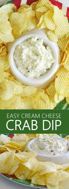 This Easy Cream Cheese Crab Dip recipe will definitely get you ready for your game day gathering, but it's perfect for serving all year 'round, too!