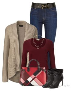 Fall Look by ksims-1 on Polyvore featuring polyvore, fashion, style, Lands' End, Jigsaw, 7 For All Mankind, Burberry, Michael Kors, Carven and clothing