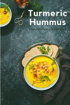 TURMERIC HUMMUS in flat 10 Minutes
