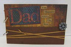 Dad mini album by Paradise Scrapbook Boutiuqe in Chico, CA.