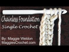 Chainless Foundation Single Crochet