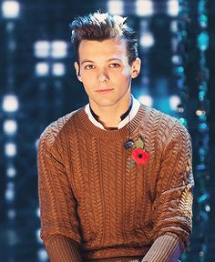 Louis Tomlinson, lou, tommo, one direction, X Factor, cute flower pin, 1D