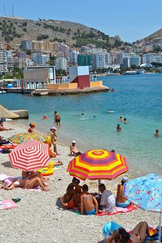 """Sarande, Albania - Often referred to as the """"Albanian Riviera"""" this budget-friendly beach resort area is just a short ferry ride from Corfu, Greece"""