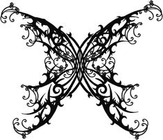 Website for this image  Gothic Butterfly Tattoo By Quicksilverfury On Deviantart  tattoodonkey.com