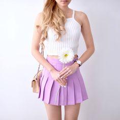Pleated Tennis Skirt - Lavender