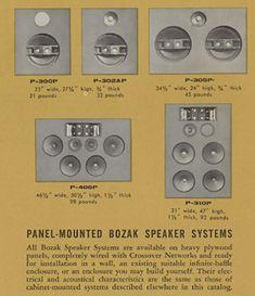 1958 Bozak Hi-Fi Speaker Catalog Loudspeaker, Audio Equipment, Audiophile, Speakers, Technology, Vintage, Retro, Classic, Klipsch Speakers