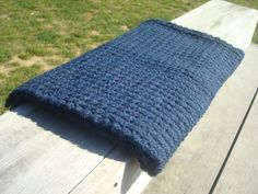 Chunky Crochet Throw - Throw Blanket - Crochet Baby Blanket - Alpaca Blanket - Crochet Afghan - Uncinetto - Couverture - крючком одеяло handmade by SNOOZE