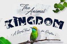 Animal Kingdom Coloring Books Awesome the Animal Kingdom Font